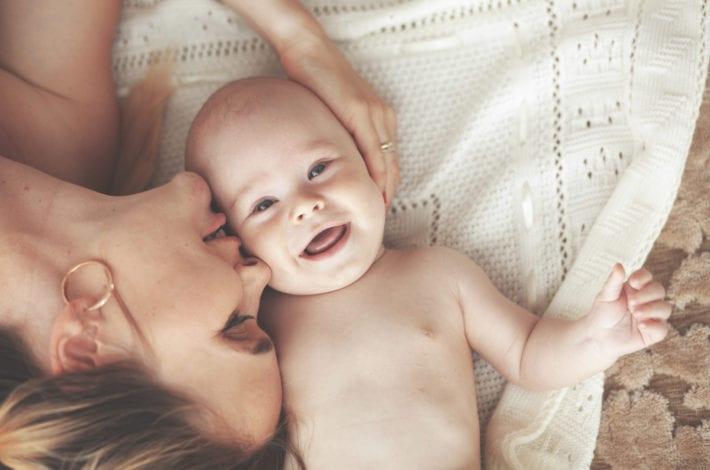 Happy newborn baby - healthy baby