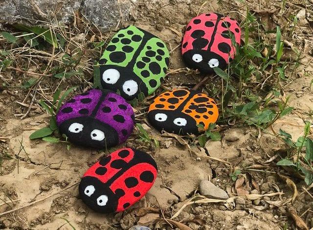 Rock Craft - Ladybird Pebbles Final Result