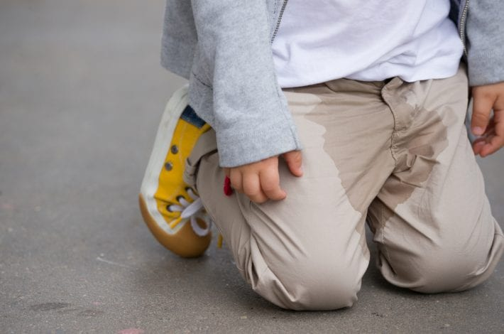 potty training - child wets his pants
