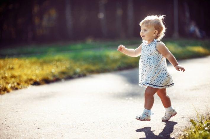 potty training - toddler walking