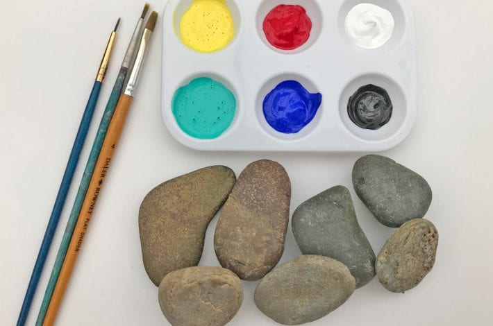 Fun pebble craft - monster stones - you will need