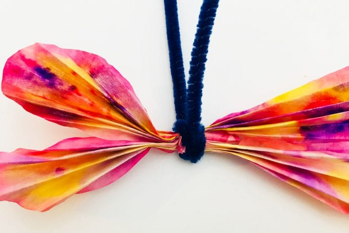 Fun kids crafts coffee filter butterflies tie filters together with pipe cleaner