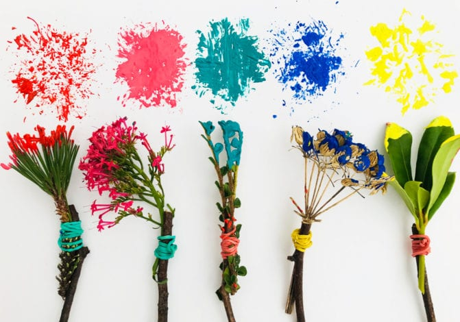 Fun toddler crafts mother natures paintbrushes