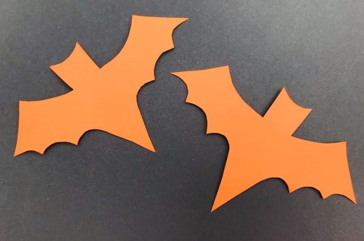 Halloween Crafts Kids - spooky bats - step 1 lay them out
