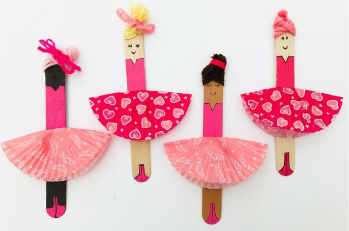 fun kids craft bun case ballerinas