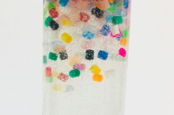 fun toddler craft sensory bottles - slow falling bead bottles