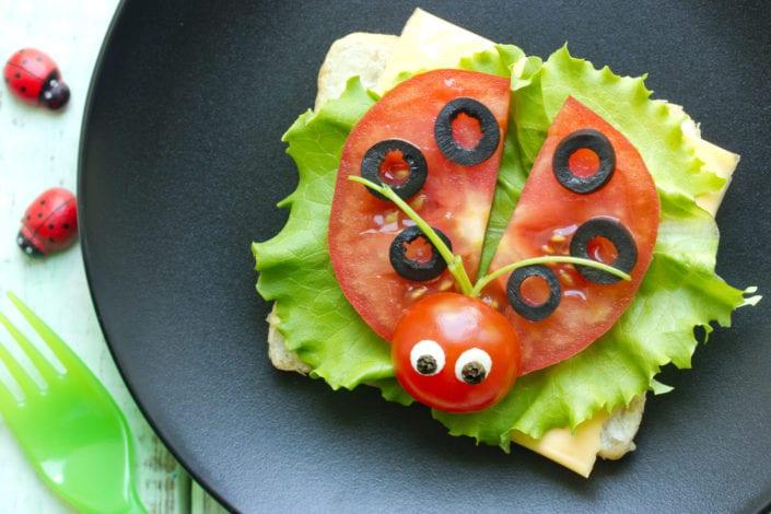 vegetables fun sandwich