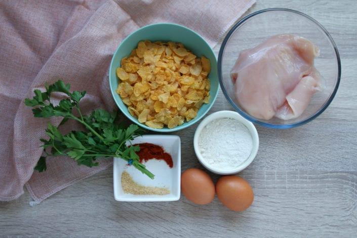Gluten free chicken nuggets - healthy kids recipes - ingredients 2