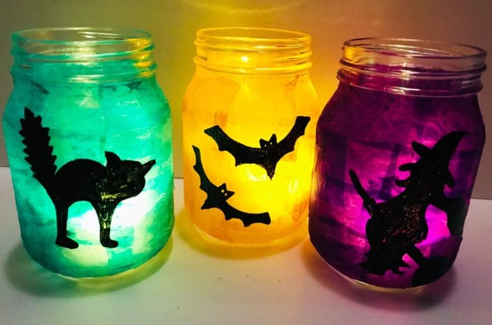Halloween glowing lanterns - halloween craft (3)