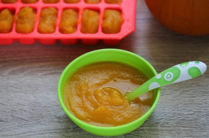 Pumpkin puree - first foods