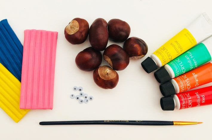 autumn craft - conker craft - autumn craft with conkers