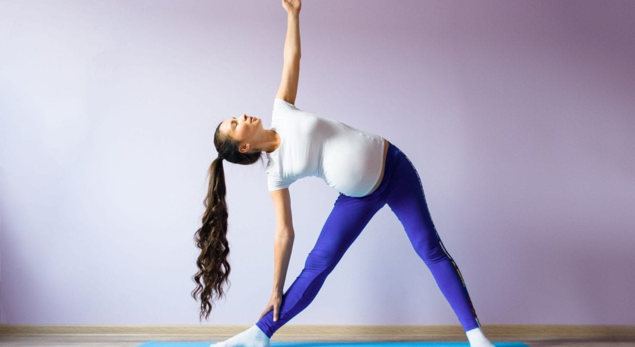 exercise during pregnancy - tips for staying safe -pregnant woman exercising safely