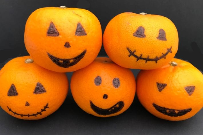 satsuma pumpkins - halloween decorations