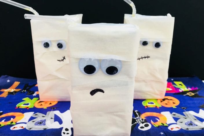 Juice Box Mummies Halloween Party Decorations Arts Crafts