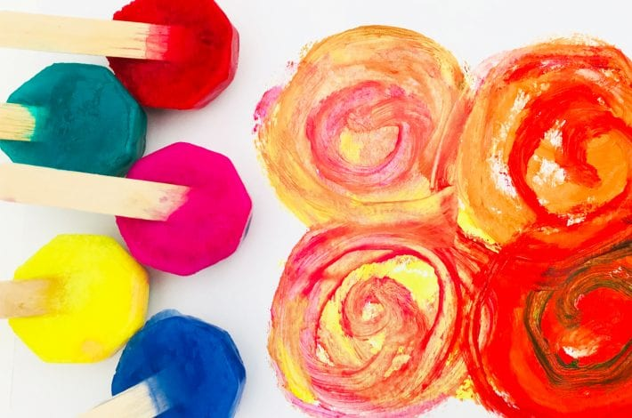 incredible ice paints - toddler craft (1)
