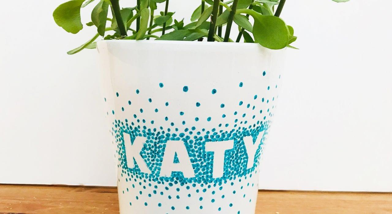 craft for teens - sharpie pot - teen decorations