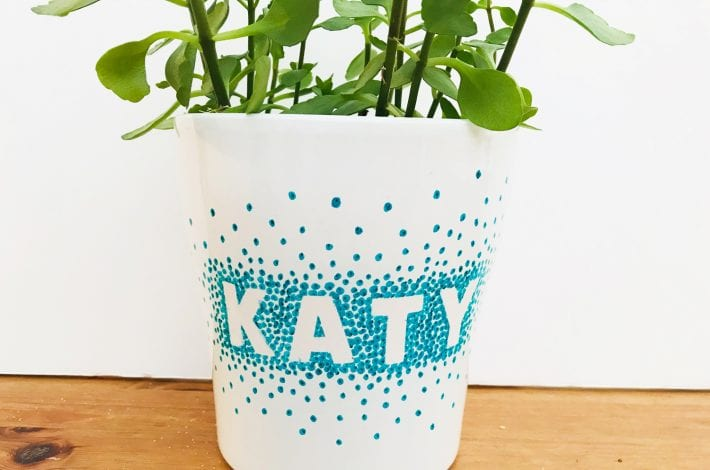 craft for teens - sharpie pot - teen decorations