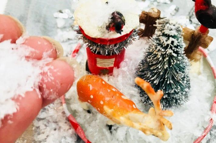 festive decorations - snow scene crafts - christmas crafts