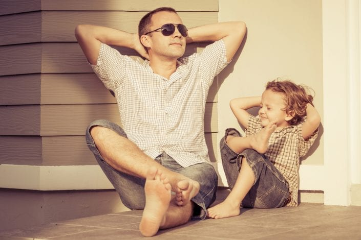 new dad - dad left out - fathers role - father isolated