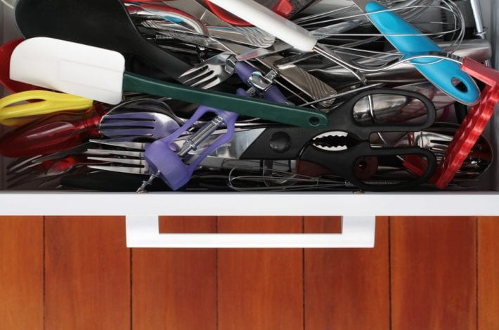 tips to declutter - clear out house