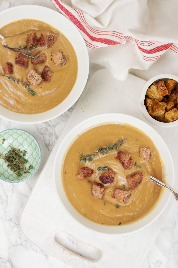 Chestnut soup. Enjoy this creamy chestnut soup as a starter or main dish. Great for Christmas lunch or those warm winter evenings.