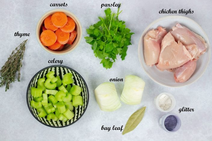 Glitter gravy - turkey stock and chicken stock recipe - enjoy this festive side