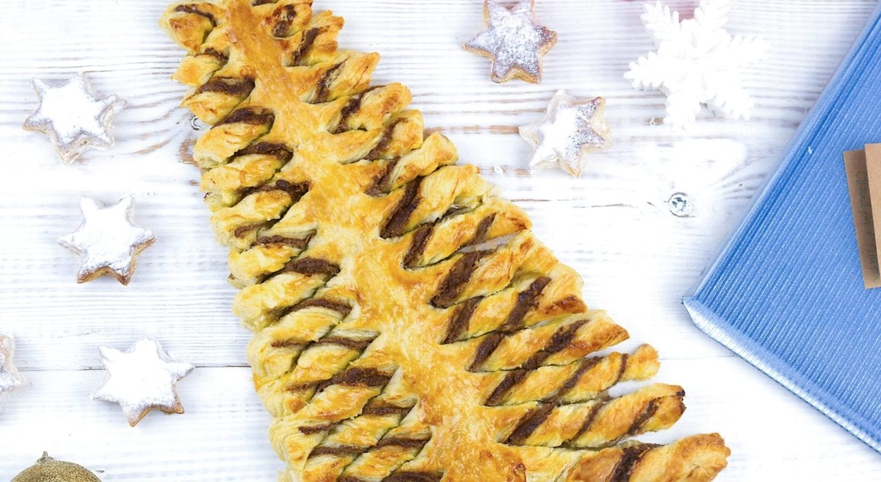 Pastry Christmas tree with a nut free filling - avoid nut allergies