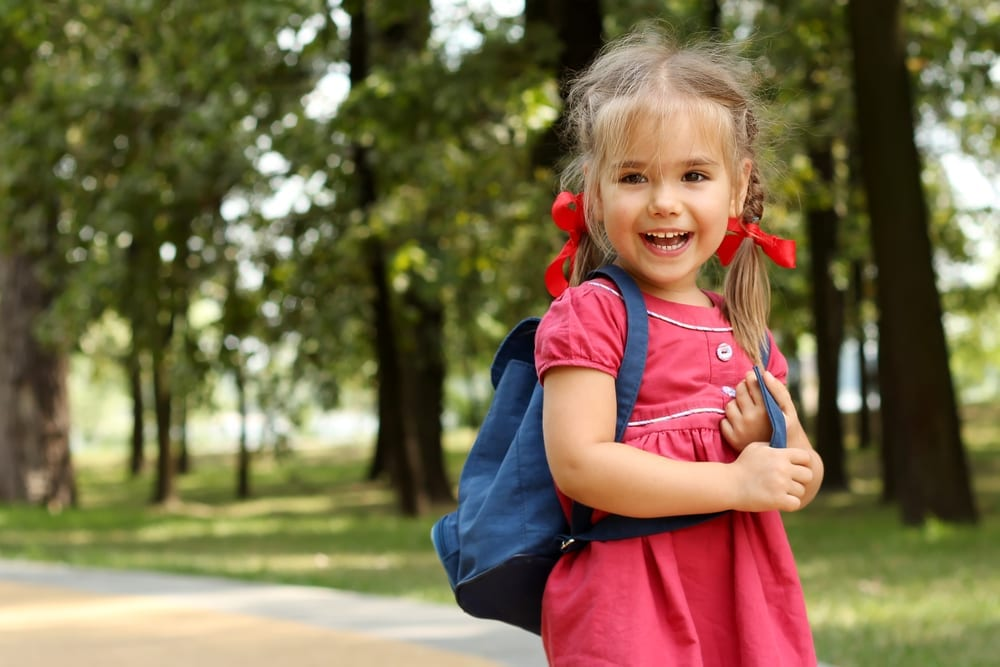 first day of school - letting child go - parenting
