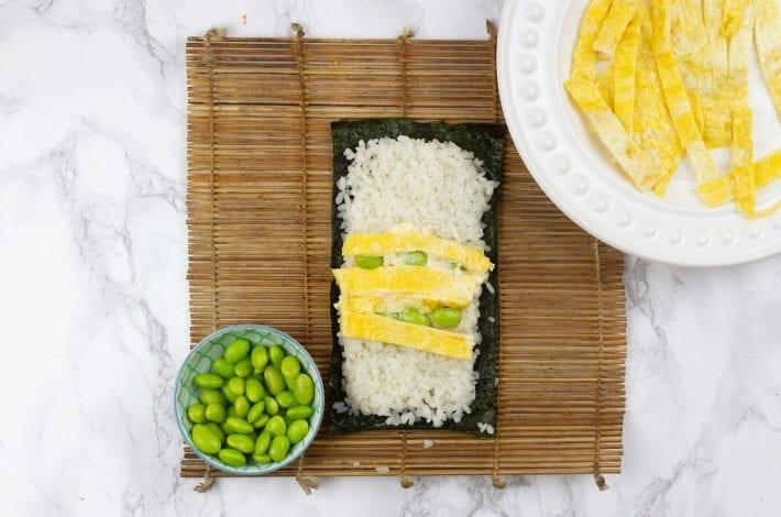 kids sushi - vegetarian sushi - sushi for kids - easy sushi for kids