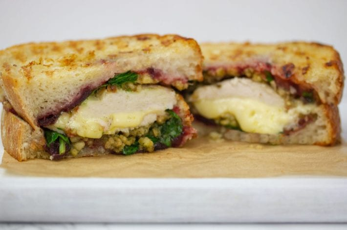 leftover turkey recipe - leftover turkey toastie - boxing day toastie