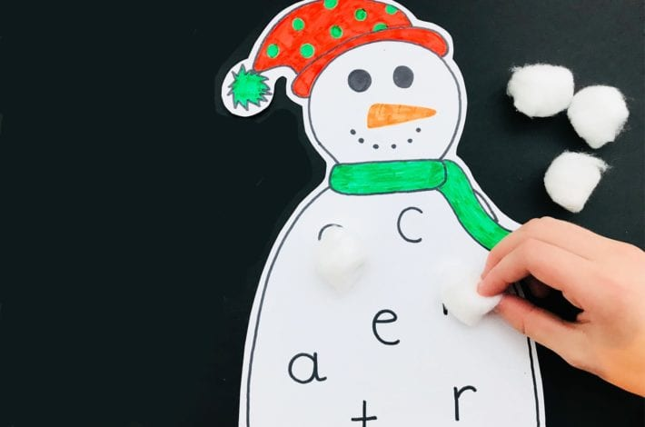 snowman bingo - sounds game