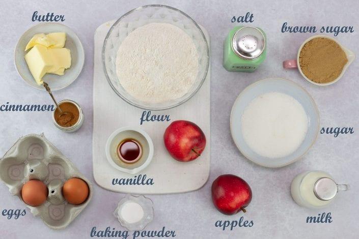 Apple upside down cake - kids will love flipping this apple upside down cake and enjoying this healthy kids treat