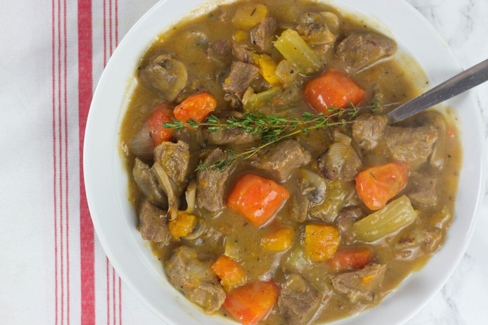 Baby beef stew - one pot beef stew recipe for the whole family