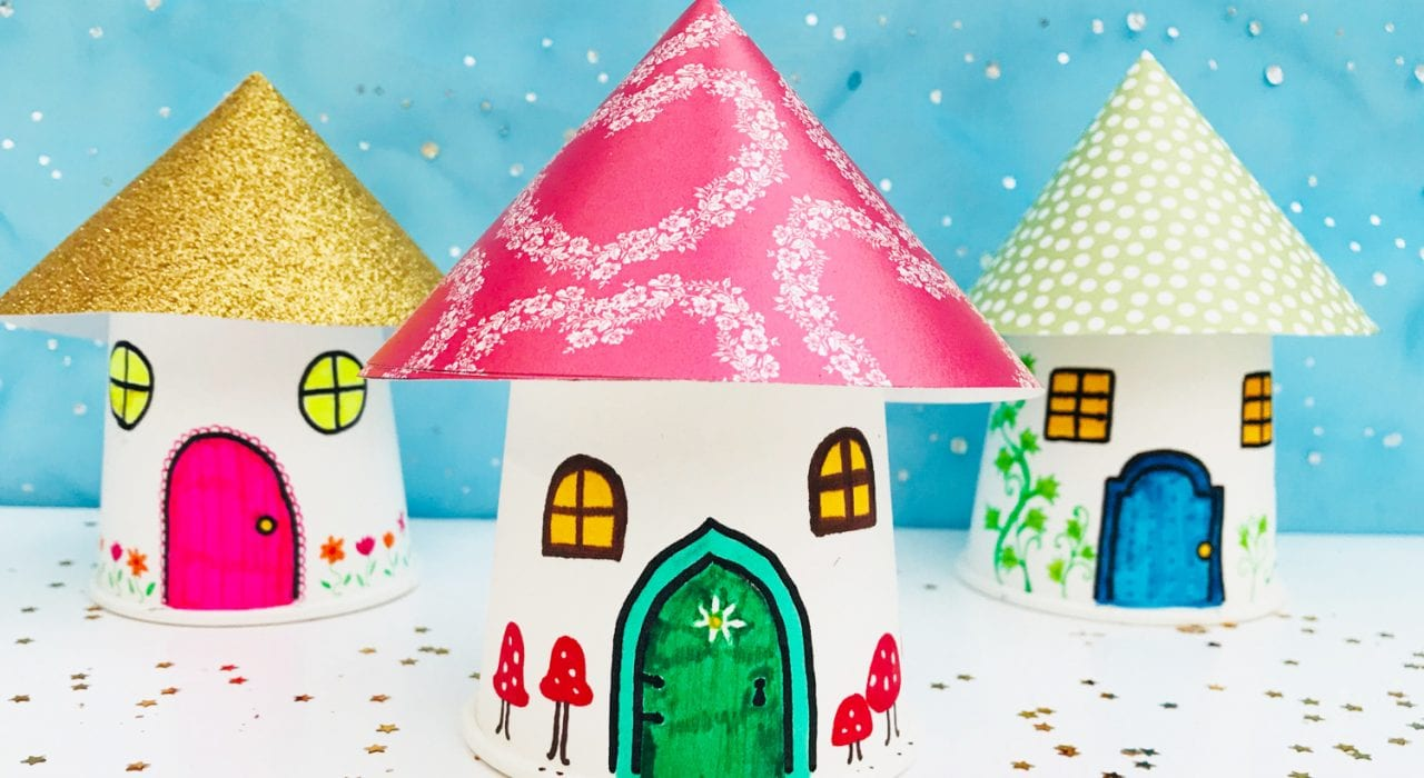 Fairy house craft - make your own fairy houses with this fun kids craft