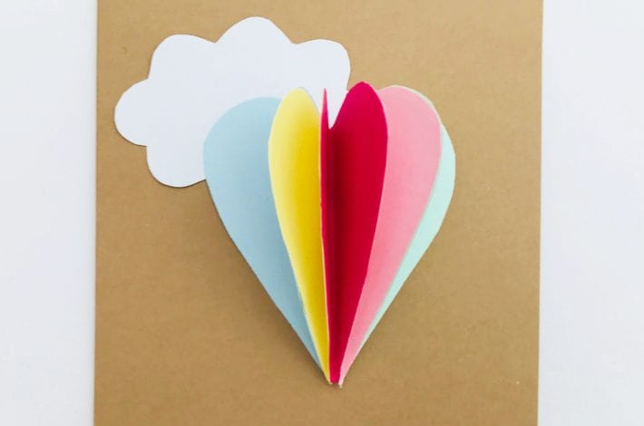 How to make a paper love heart card