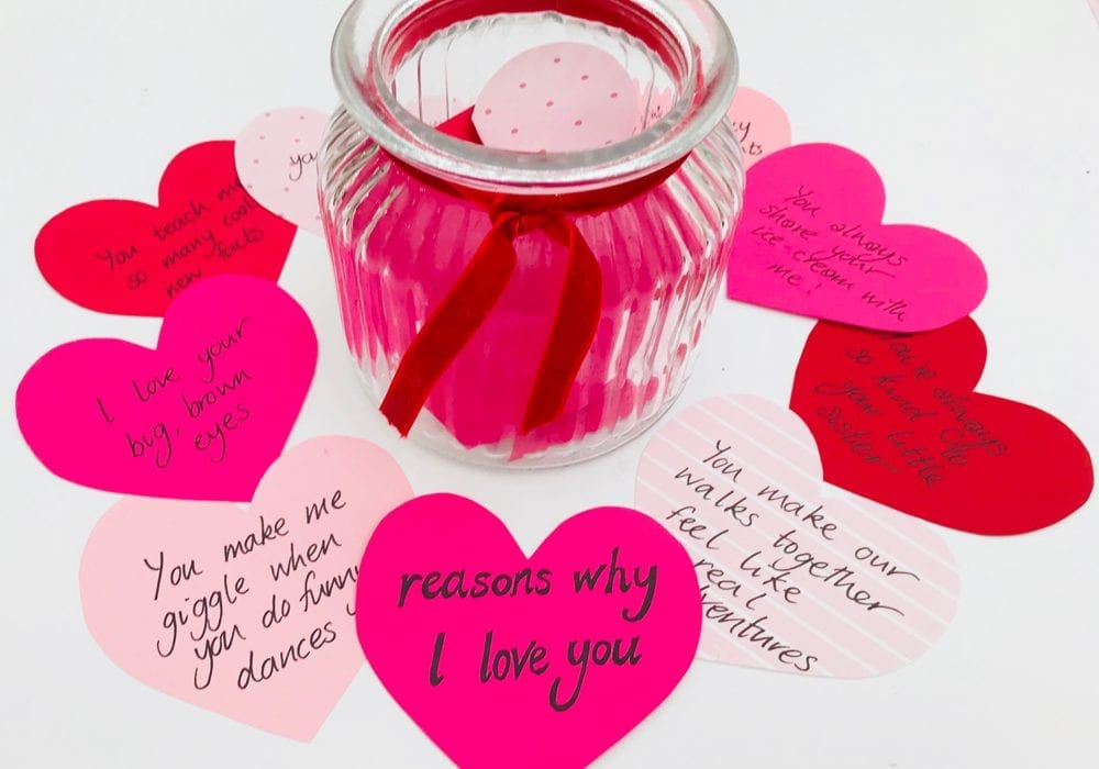 Kindness notes for kids - valentines kids craft