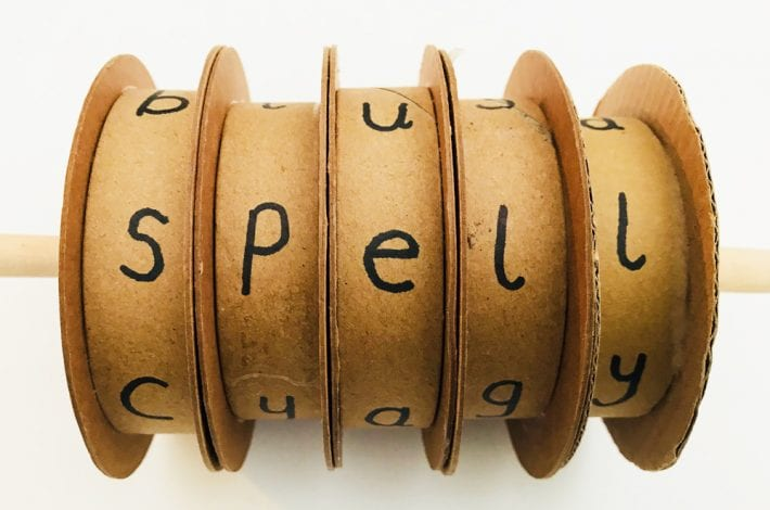 Spelling spinners - learn to spell with these spelling spools