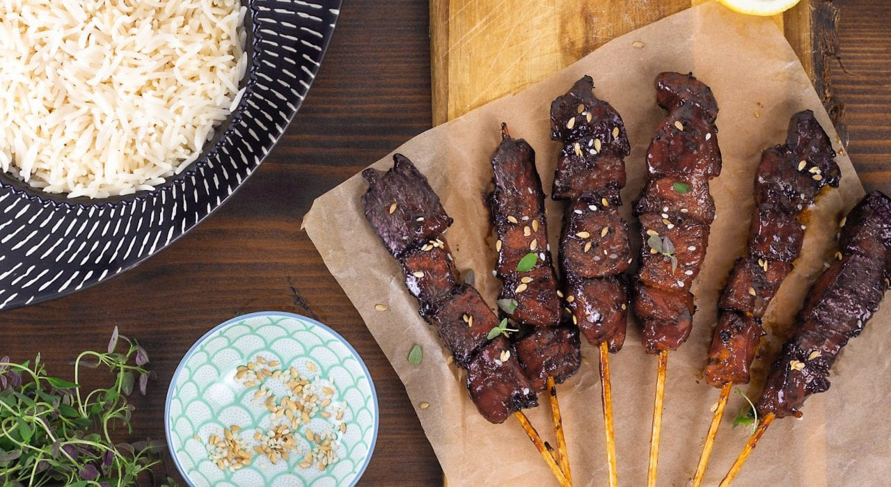 Sticky chicken skewers with honey and lemon v3