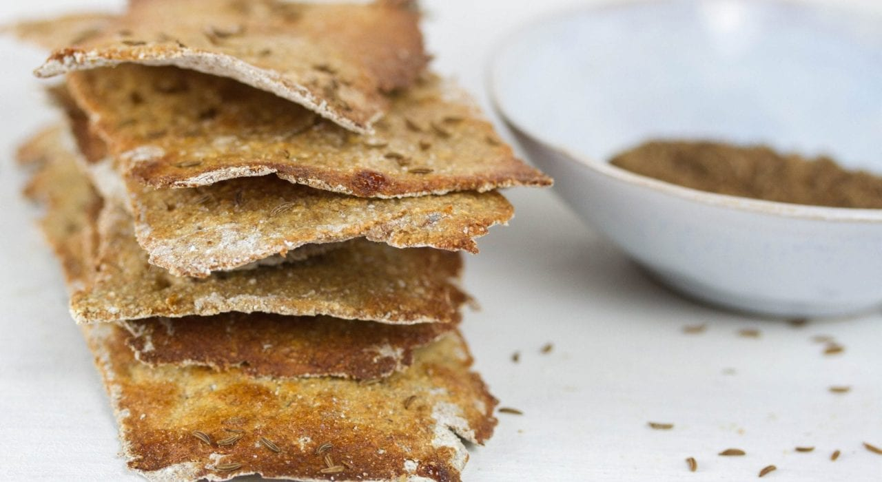 Swedish rye crispbread recipe - enjoy these homemade rye thins with caraway and a maple glaze