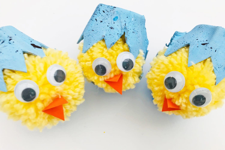 Hatching Chicks Egg Carton Craft Kids Crafts Mas Pas