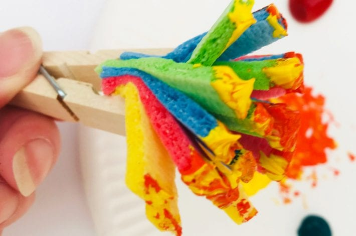 Sponge paint brush - make your own diy sponge paint brush and enjoy getting creative with kids