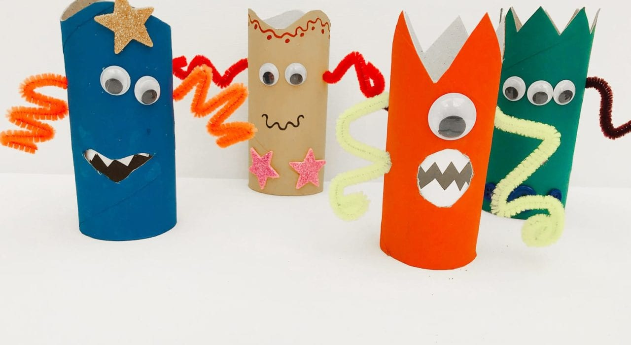 Toilet roll monster craft - How to make toilet roll monsters - a fun craft for kids