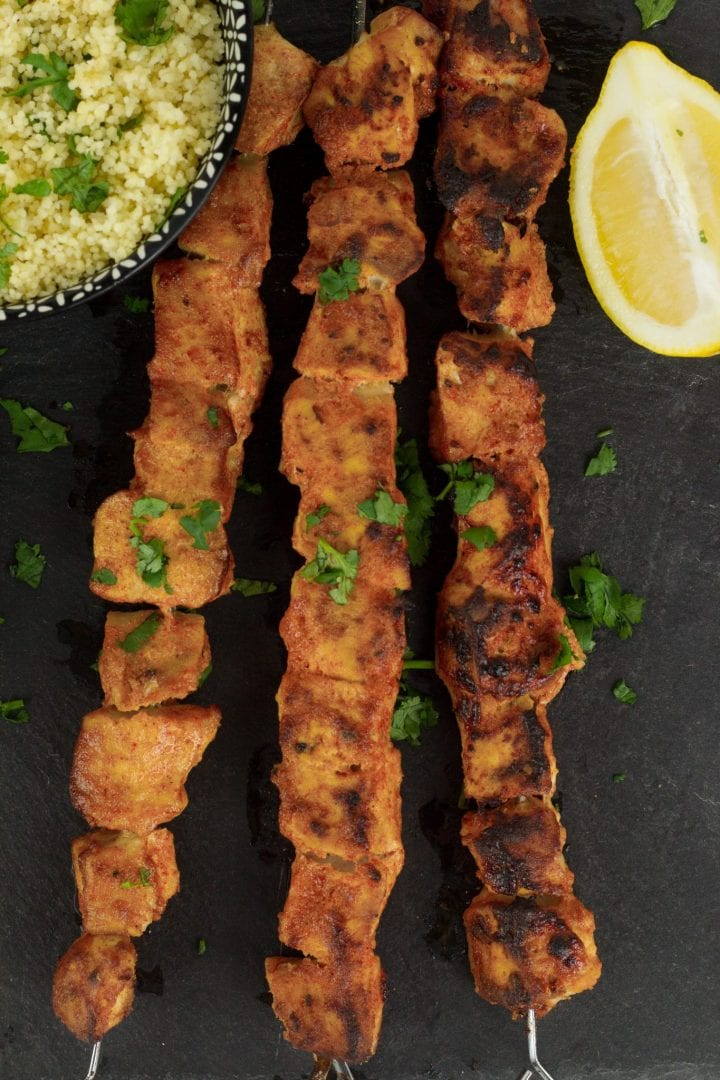 Chicken sticks cooked in yoghurt and spices - a tasty family dinner recipe