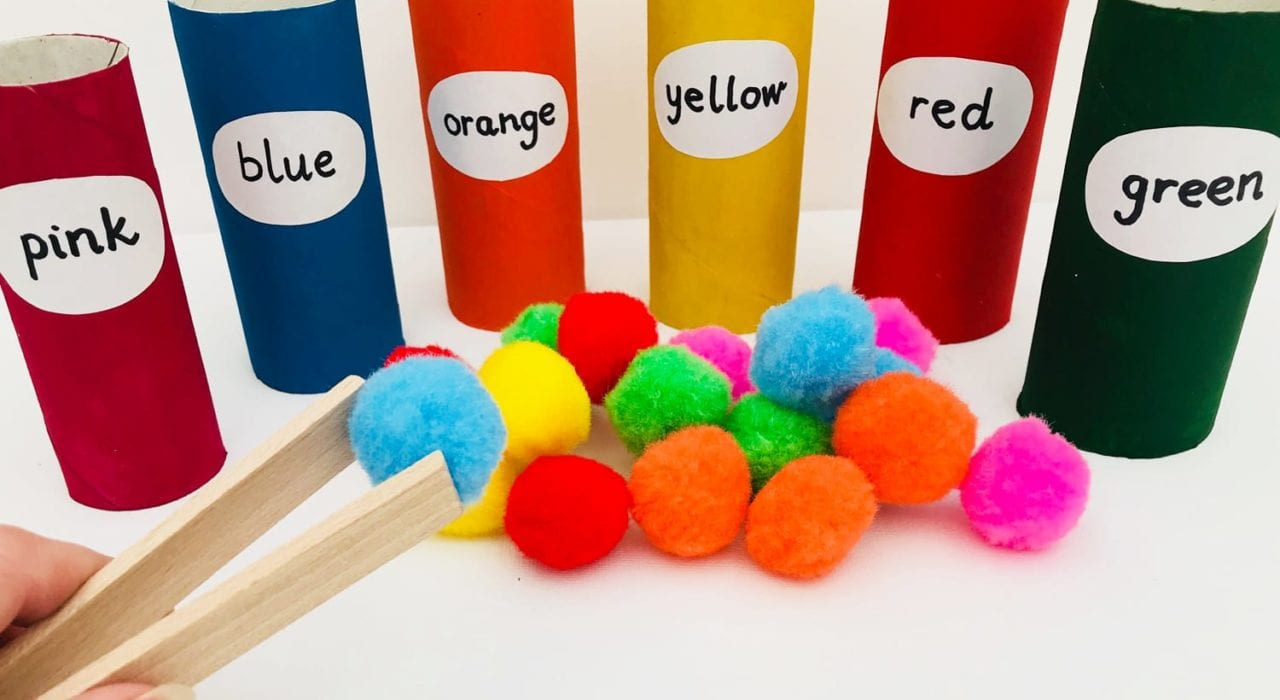 Fun With Colors Learn Colours Our Pom Colour Matching Teaching Toddlers