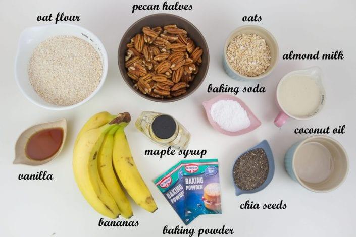 Dairy free banana bread - enjoy this vegan banana bread with is without dairy and without gluten or refined sugars