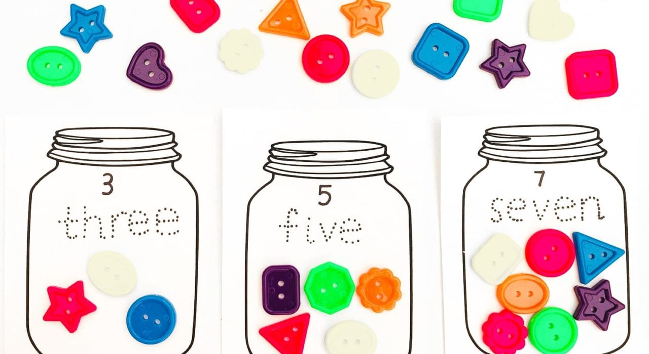 Learning how to count - Sweetie jar counting game