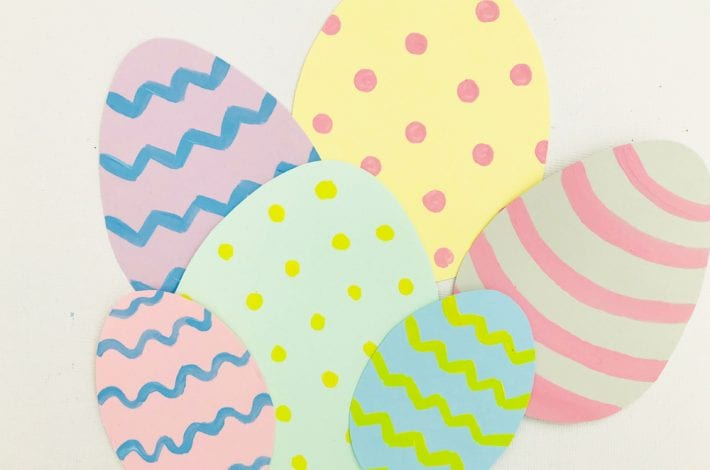 Paper plate Easter egg basket craft for kids
