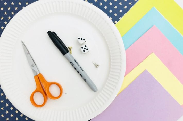 Teaching time to kids - Play this paper plate clock game for learning to tell the time