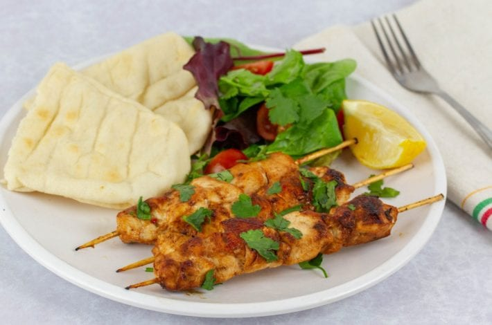 BBQ chicken kebabs in an orange bbq marinade - great for grilling chicken skewers as well as chicken fillets