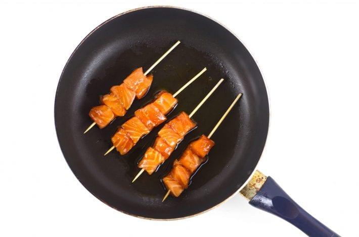 Glazed teriyaki salmon sticks - a great salmon recipe for family dinners and kids meals